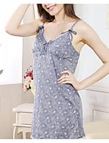 Damen Babydoll & slips Hemden & Kleider Nachtwäsche,Push-Up Blumen-Baumwolle Dünn Damen