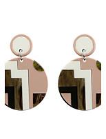 Boucles d'oreille goutte Acrylique Acrylique Mode euroaméricains Forme de Cercle Rose + Blanc BijouxMariage Soirée Halloween Quotidien