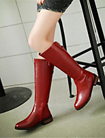 Women's Boots Winter Comfort PU Casual Low Heel