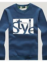 Sweatshirt Homme Décontracté / Quotidien Lettre Col Ras du Cou Micro-élastique Coton Manches Longues Automne