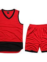 Unisex Fußball Kleidungs-Sets/Anzüge Atmungsaktiv Komfortabel Frühling Sommer Herbst Winter einfarbig Polyester Basketball FussballWeiß