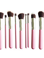 New 10 Silver Pink Face Eye Lip Makeup Brush Sets Shading Brush Brush Highlights Beginners Essential Professional Makeup Brush Bag Mail