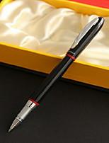 Гелевая ручка Ручка Шариковые ручки Ручка,Металл бочка Черный Цвета чернил For Школьные принадлежности Офисные принадлежности В упаковке
