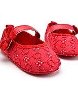 Kids' Flats Spring Fall First Walkers Fabric Wedding Outdoor Party & Evening Dress Casual Flat Heel Bowknot Hook & Loop