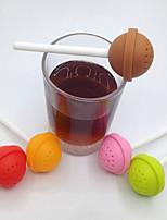 1pc 3,5 * 11,2 centímetros chá de silicone chá brew fabricante manual (cor aleatória)