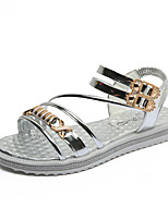 Women's Sandals Summer Mary Jane Leatherette Outdoor Dress Casual Low Heel Rhinestone Buckle Walking
