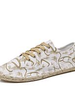 Белый Черный Хаки-Для мужчин-Для прогулок Повседневный-Полотно-На плоской подошве-Удобная обувь Светодиодные подошвы-Кеды
