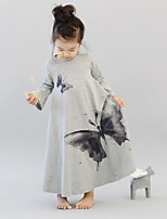 Girl's Animal Print Dress,Cotton Spring ¾ Sleeve