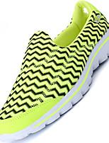 Серый Зеленый Синий-Для мужчин-Для прогулок Для занятий спортом-Тюль-На низком каблуке-Удобная обувь Светодиодные подошвы-Кеды