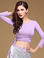 Shall We Belly Dance Tops Women Training Cotton Modal 1 Piece Dance Costumes Long Sleeve Round Neck
