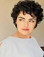 Hot sale Black Short Curly Hair  Synthetic Wig  Suitable For All Kinds Of People