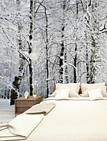 Art Deco Wallpaper For Home Wall Covering Canvas Adhesive Required Mural Colored Ice and Snow World Background XXXL(448*280cm)