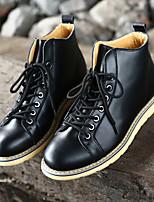 Черный Темно-коричневый Вино-Для мужчин-Для прогулок Для офиса Повседневный Для занятий спортом-Кожа-На низком каблуке-Light Up обувь-