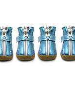 Chien Chaussures & Bottes Hiver Eté Printemps/Automne Sportif Mode Couleur Pleine Argent Orange Fuchsia Vert Bleu