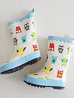 Белый Синий Розовый-Девочки-Повседневный-Резина-На низком каблуке-Удобная обувь-Мокасины и Свитер