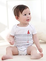 Baby Casual/Daily Beach Sports Striped One-Pieces,Cotton Summer Fall Short Sleeve