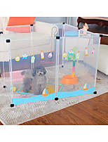 Cat Dog DIY Plastic Fence Transparent 8pcs