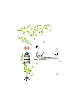 Wall Stickers Wall Decals Style Fresh Branches Cage PVC Wall Stickers