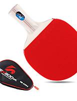 2 étoiles Tennis de table Raquettes Ping Pang Bois Manche Court Boutons Intérieur Utilisation Exercice Sport de détente-#