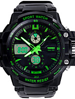 SKMEI 0966 Men's Woman Watch Double Significant Outdoor Sports Watch Mountain Climbing Waterproof Electronic Watch Male LED Students Multi - Function