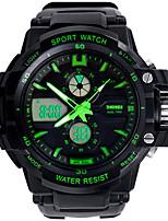 SKMEI 0966 Herren-Frau beobachten Doppel bedeutende Outdoor-Sport-Uhr Bergwasserdichte elektronische Uhr männlichen Studenten Multi führte