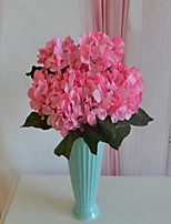 1 Branch Plastic Hydrangeas Tabletop Flower Artificial Flowers 30*30*44