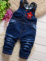 Girls' Casual/Daily Solid Geometric Overall & Jumpsuit-Cotton All Seasons