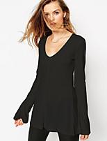 2015 осени новой мода свободного рог рукав рубашка ол дикий тонкий маятник с длинным рукавом