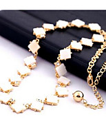 Women's Chain Necklaces Jewelry Gem Euramerican Fashion Jewelry For Party Thank You Gift Daily 1pc