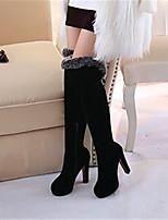 Черный-Для женщин-Повседневный-Полиуретан-На толстом каблуке-Туфли Мери-Джейн-Ботинки