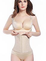 Women's Underbust Corset Nightwear,Push-Up Solid-Medium Nylon Women's