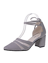 Women's Sandals Summer D'Orsay & Two-Piece Fleece Outdoor Dress Casual Chunky Heel Lace-up Walking