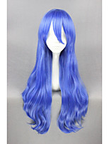 longue date d'un 28inch bouclés bleu direct Yoshino perruque cosplay anime cs-188a