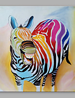 IARTS®Cute Cartoon Zebra Colorful Acrylic Handmade Painting for Home Decro Ready to Hang