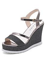 Women's Sandals Summer Creepers Leatherette Outdoor Party & Evening Dress Wedge Heel Buckle Walking