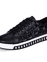Men's Sneakers Spring Summer Mary Jane PU Outdoor Athletic Casual Flat Heel Lace-up Walking