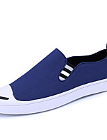 Men's Loafers & Slip-Ons Spring Summer Moccasin Canvas Outdoor Athletic Casual Flat Heel Walking