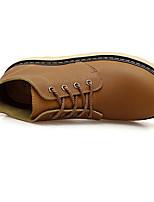 Хаки-Для мужчин-Повседневный-Резина-На плоской подошве-С Т-образной перепонкой-Ботинки