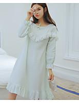 Nuisette & Culottes Vêtement de nuit Femme Couleur Pleine-Moyen Coton Aux femmes