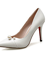 Women's Heels Spring Summer Fall Club Shoes PU Wedding Office & Career Dress Stiletto Heel Imitation Pearl