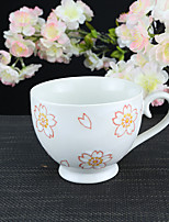 Orange Plum Flower High Temperature Porcelain Tea Cup/Coffee Mug 330 ml