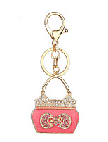 Key Chain Key Chain White Blue Pink Metal