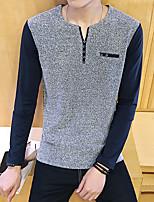 -p35- novos homens&# 39; s casual de mangas compridas t-shirt laranja hotel