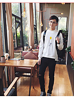 Men's Going out Sweatshirt Print Round Neck Micro-elastic Cotton Long Sleeve Fall