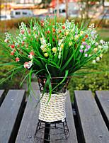 1 Ramo Plástico Campânula Flor de Mesa Flores artificiais 28