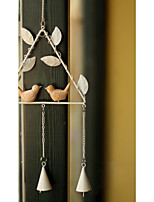 Home decoration hanging triangle birds fengling metal wind chimes