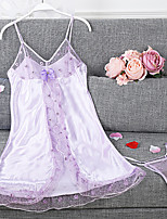 Women Garters & Suspenders Nightwear,Lace Solid-Thin Polyester Women's