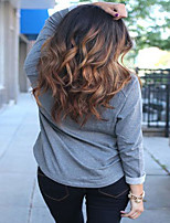 Chestnut Brown Ombre Lace Front Human Hair Lace Wigs Brazilian Virgin Hair Wigs Body Wave For Black Women Lace Wigs