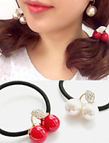 1 Pcs Crystal Rope Cherry Hair Accessories Small Express Ball Fruit Hair Bands