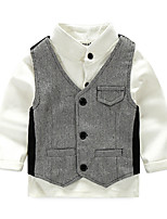 Boys' Casual/Daily Solid Sets,Cotton Spring Fall Long Sleeve Clothing Set